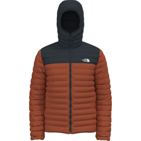 The North Face Stretch Down Hoodie Jacket Men burnt ochre/tnf black